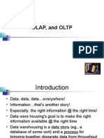 Data Warehousing, OLAP, And Data Mining