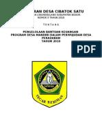 Peraturan Desa Nomor. 03 Tahun 2010 Tentang Pengelolaan Bantuan Keuangan Program Peradaban