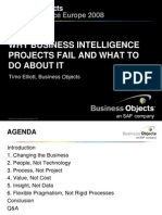 Why BI Projects Fail