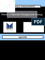 Maruti Materials Management Strategy