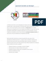 Eau et développement durable au Sénégal