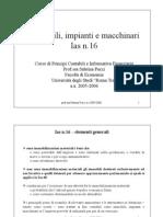 IAS 16 Immob Impianti Macchinar