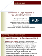 Introduction to Legal Research Fall 2007