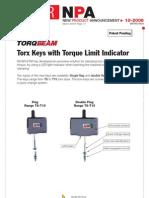 TORQBEAM - Torx Keys With Torque Limit Indicator