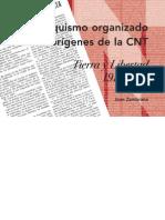 El Anarquismo Organizado y Los Origenes de La CNT - Tierra y Libertad 1910-1919, Joan Zambrana