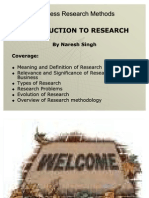 1. Introduction to Research
