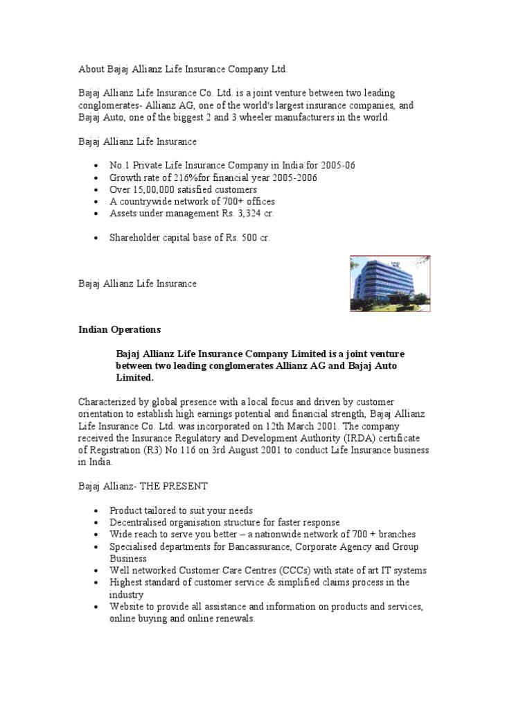 Bajaj Allianz Life Insurance Customer Login