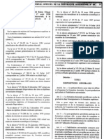 Decret Executif 98-254 Doctorat Post Graduation Specialisee ion Fr