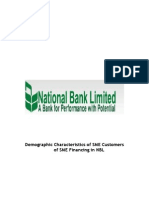 Demographic Characteristics of SME Customers of SME Financing in NBL