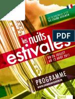 Programme Les Nuits Estivales