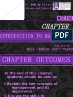 Chapter 1 - Introduction to Management