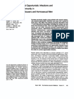 Community-Acquired Opportunistic Infections and Defective Cellular Immunity in Heterosexual Drug Abusers and Homosexual Men