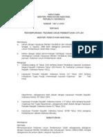 Kepmendiknas No.146-U-2004 Pembentukan Istilah