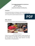 Laporan Kursus Kejurulatihan Badminton Kebangsaan Peringkat Satu