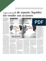 Operación de reporte liquidez sin vender sus acciones