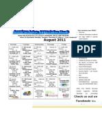 Holly City FSC August 2011 Calendar