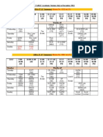 Rectified Time Table