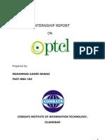 Internship Report on PTCL( Aamir Nawaz FA07-BBA-184)