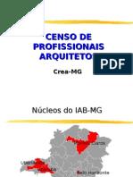 Censo Profissional - Arquitetura
