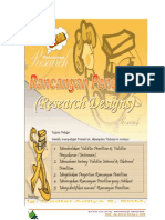 Rancangan (Design) Penelitian