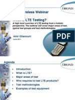 Aeroflex LTE Network and Device Testing- Webinar Pesentation June 16, 2011