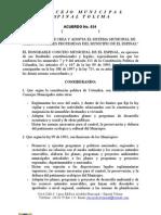 Acuerdo de Areas Proteggidas Espinal Tolima
