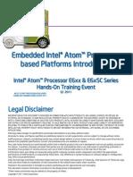 Atom E6xx Training