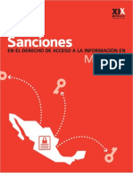 Sanciones en el Derecho de Acceso a la Información en México