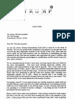 Trump Letter