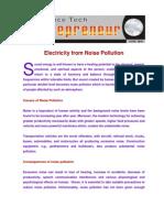 Noise Pollution