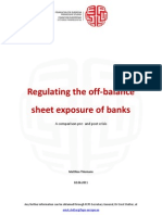 Regulating the Off Balance Sheet Exposure of Banks