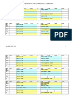 Structures Timetable