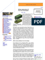 Fuel Cell Technology for Military Use