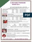 August 2011 Calendar of Events