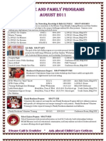 August 2011 Calendar of Events