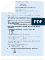 List of Programs Class XI 2011 12
