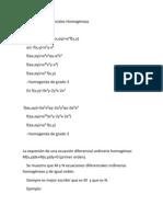 Teoría Ecuaciones Diferenciales Homogéneas