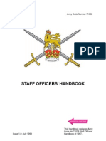 Staff Officers Hand Book