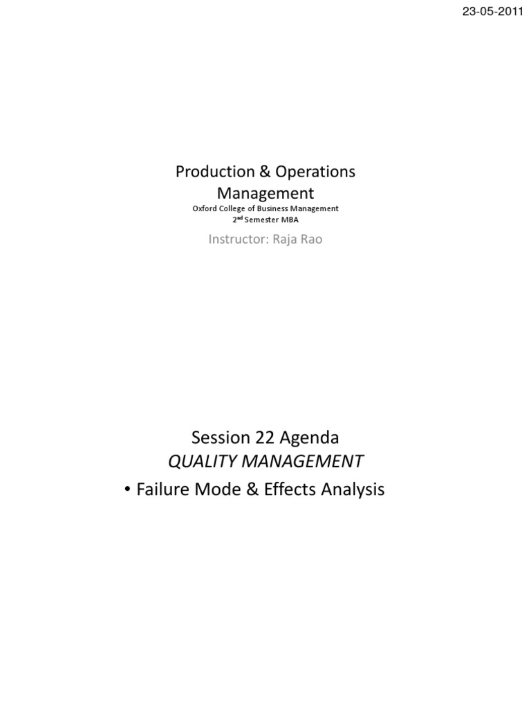 2qm S2 01 Fmea Handout Production And Manufacturing Industries Block Diagrams Boundary