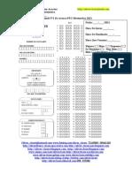 Facsímil N°1 De Avance PSU Matemática 2011 - Conjuntos Numéricos y Operac