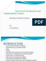 Ppt of Mobile Phone Cloning 1