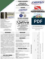 Folder Jornada Paraense de Psicopedagogia