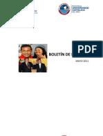 Boletín mensual de noticias - Mayo 2011