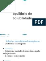Equilibrio de Solubilidade-slides