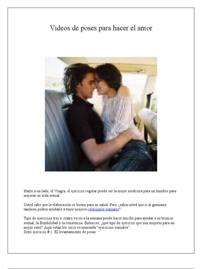 Videos De Poses Para Hacer El Amor Relaciones Sexuales Testosterona