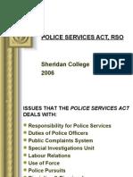 Police Services Act, Rso