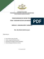 CONSUMIR AZUCAR CON MODERACION informe técnico final