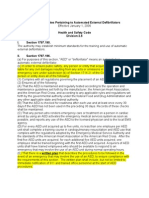 California Statutes Pertaining to Automated External Defibrillators