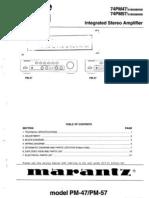 Marantz PM47 PM57 (74PM47 74PM57) Integrated Amplifier Service Manual
