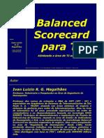 Balanced Scorecard de TI - GU - Apresentação